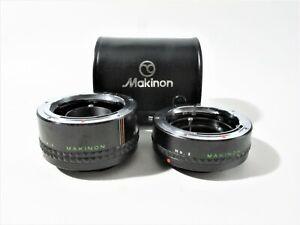Makinon 2x Converter No.1 + Extension Tube No.2 for Rollei SLR w/Case, no Caps
