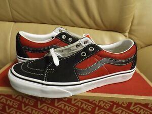Vans Sk8-Low Leather Men's Size 10 Skate Shoes Black/Chili Pepper VN0A4UUK2S1