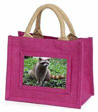 Racoon Lemur Little Girls Small Pink Shopping Bag Christmas Gift, ARL-1BMP
