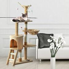 "52"" Cat Tree Activity Center Climbing Condo Scratcher Kitty Playhouse w/ Toys"