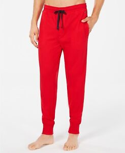 NWOT Tommy Hilfiger Men's Red Waffle Knit Thermal Jogger Pants