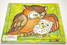 "OWL 20 pc Jigsaw Wood Puzzle 8""x8"" Educational Toy Wooden Wood Crafted Game"