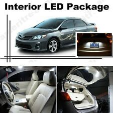 For Toyota Corolla 2003-13 Xenon White LED Interior kit +White License Light LED