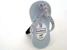 Photo Frame: Jeweled and Powder Blue Enamel Flip Flop Picture Frame by Ganz New