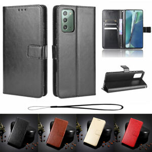 For Samsung S21 S20 FE Note20 Ultra S10 S9 8 Plus Wallet Case Leather Flip Cover