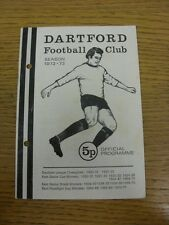 20/02/1973 Dartford v Margate  (Punched Holes, Light Marking, Team Changes). Tha