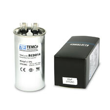 Temco 45 Ufmfd 370 Vac Volts Round Run Capacitor 5060 Hz Lot 1