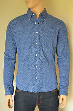 NUOVO Abercrombie & Fitch classica Stampa Floreale Bottoni Camicia Navy & Blue XL