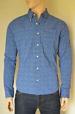 Nueva Abercrombie & Fitch Classic Estampado Floral Camisa con botones en azul marino y Azul Xl