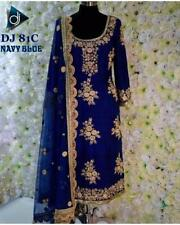 Indian Ethnic Anarkali Salwar Kameez-Pakistani Bollywood Designer Suit-dj-81-c