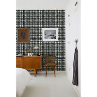Plaid Plaid Pattern removable wallpaper Black and White Modern Pattern