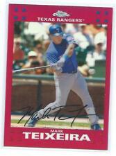 2007 Topps Chrome-Mark Teixeira Red Refractor /99-Rangers