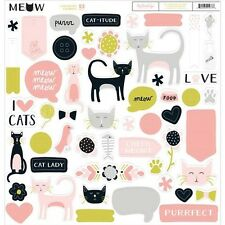My Minds Eye Meow Chipboard Elements - 227957