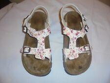 EUC Alpro by Birkenstock Sandals Women's Size 10 8 White flowery