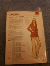 Vintage 1970s Silver Needles sewing pattern No: 28 Lady's Wrapover Jacket uncut