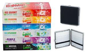 6 Boxen Fresh Bomb Mix Click Hülsen mit Aromakapsel inkl. Zigarettenetui