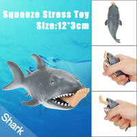 12cm Funny Toy Shark Squeeze Stress Ball Alternative Humorous Light Hearted