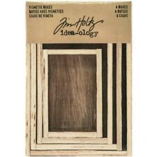 Tim Holtz Idea-ology Wooden Vignette Boxes - 4pcs Brown TH93279