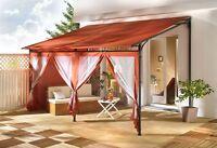 3 Seitenteile zu Rollpavillon 3x4m Terra  Sichtschutz Sonnenschutz NEU & OVP