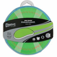 Chuckit PARAFLIGHT Dog Fetch Toy Small Frisbee Glow in the Dark 3D Rechargeable