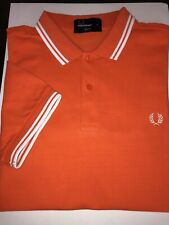 Fred Perry Twin Tipped Polo Orange