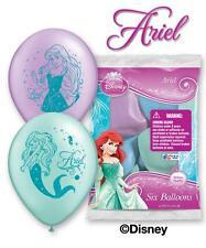 "6pc 12"" Little Mermaid Disney Princess Ariel Party Latex Balloons Happy Birthday"