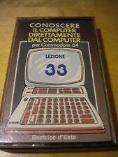 Cassetta Conoscere il computer direttamente dal computer 33 per Commodore 64