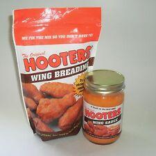 New Combo Lot 12oz Jar Original Hooters Hot Wing Sauce Mild Medium &1lb Breading