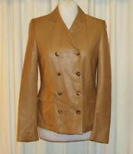 BEAUTIFUL CALVIN KLEIN SOFT TAN LEATHER JACKET  US 4  AUS 8/10 MADE IN ITALY