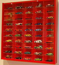 Model Car Display 1:64 & 1:72 Scale Hot Wheels, Matchbox, Biante, Tomica ( RED )
