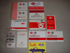 1966-1980 Corvette Set of 12 GM Factory Authorized Reproduction Owners Manuals