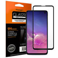 Galaxy S10e Tempered Glass Screen Protector | Spigen® [Glass FC] Black (1Pack)