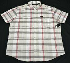 Sean John Button Down Shirt Men 4XB 4X 4XL Plaid Logo Pocket Woven Urban P668(d)