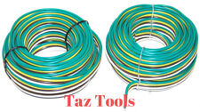 (2) 25ft  12v 16 awg 4 way bonded trailer wire taillight stop turn