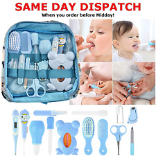 Kids Health Care Kit For Newborn Infant Baby Nails Hair Thermo Gift BOY BLUE UK