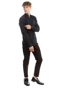 RRP €395 BALLANTYNE Cashmere Cardigan Size 52 / XL Mock Neck Made in Italy