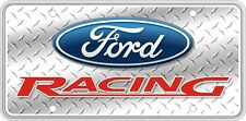 Ford Racing on Silver Faux Diamond Plate SVFORD12C