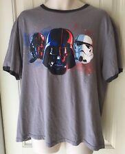 Disney Store Men's XL Star Wars T Shirt Gray New W/O Tags