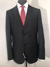 Designer CALVIN KLEIN Men's Single Breasted Grey Wool Suit Size: 48R NEW