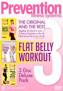 Prevention Fitness Systems DVD NEW Region 4 Express Belly Blast Flatten Belly