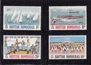 BRITISH HONDURAS #308-311 MNH VARIOUS FESTIVALS (BOAT RACES & PARADES)
