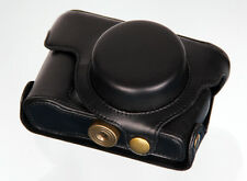 New black leather case bag- Olympus XZ-2 XZ2 digital camera antique