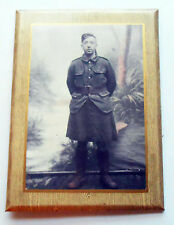 Original WW1 Photo Of Highlander in Kilt and Tunic Colorized Laminated to Frame