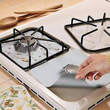 4x Reusable Gas Range Stovetop Burner Protector Liner Cover Cleaning Kitchen Hot