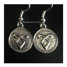The Mortal Instruments City Of Bones Angelic Power Rune Earrings Silver
