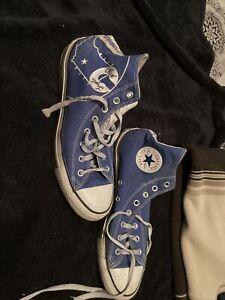Size 11 Blue Chuck Taylor Converse High Tops Columbus Indiana Custom Made