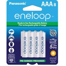 Panasonic Eneloop AAA 8 Pack Rechargeable Batteries up to 2100x, BK-4MCCA8BA
