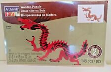 Wooden Puzzle by ArtMinds 148 pcs - Dragon - New Wiggle Eyes Micheals Craft