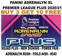 PANINI PREMIER LEAGUE ADRENALYN PLUS 2020/21 - SIGNINGS/ UPDATES & FOIL CARDS