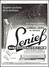Publicité Brosse à Dents du Dr LENIEF vintage print ad 1927 -5h